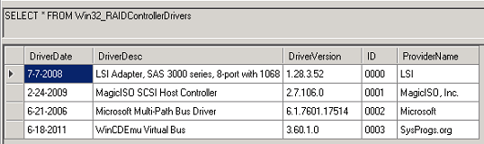 Configure SCCM 2012 to Inventory RAID Controller Drivers