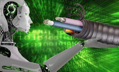 Inteligentny przewód do robotów przewiduje przyszłość.