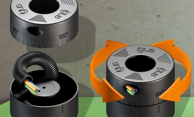 Nowy moduł CRM firmy igus może wykonywać obroty nawet o 360 stopni i jest przystosowany do montażu w ograniczonej przestrzeni. (Źródło: igus GmbH)