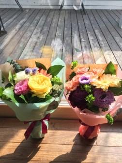 ミニブーケ 祝い 熊本 花屋 シンプル 誕生日 花束 アレンジメント