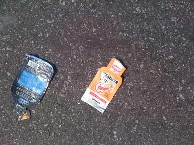 lixo deixado por atletas