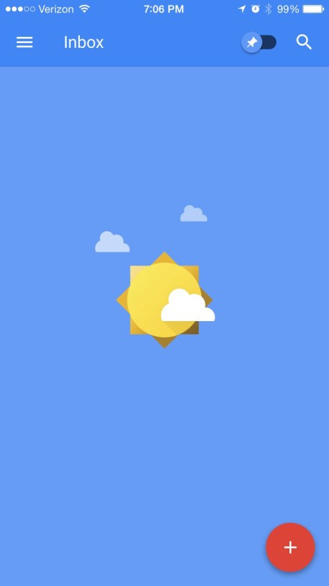 iPhone version of Inbox