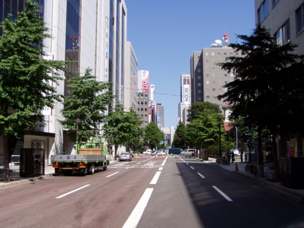 Breite Boulevards im Zentrum