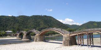 Die berühmte Kintai-Brücke