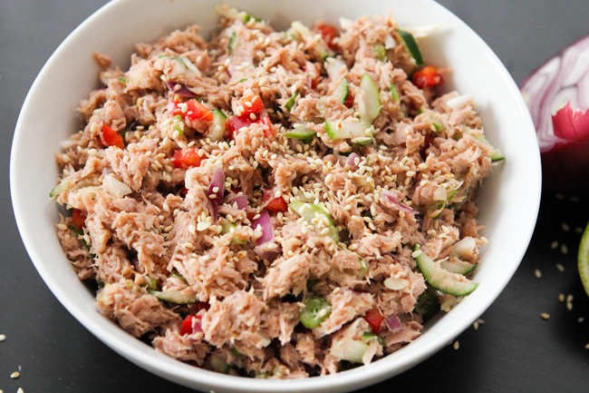 Paleo Spicy Tuna Fish Sandwich