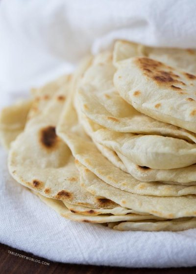 Homemade Flour Tortillas - Table for Two® by Julie Wampler