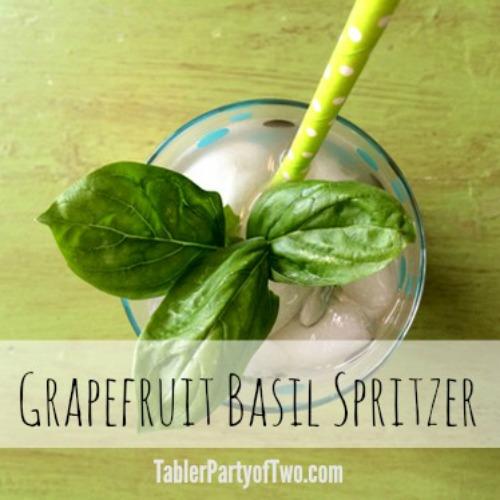 Grapefruit Basil Spritzer