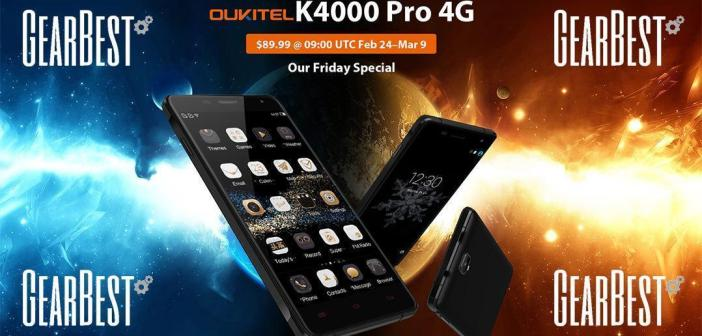 Oukitel K4000 Pro Promo Gearbest