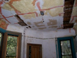 Greene St. Brownstone-Before picture of dining. Renovation consisted of all new wiring and a new heating system.