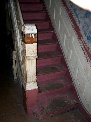Greene St. Brownstone-This image is a view of the main stairwell.