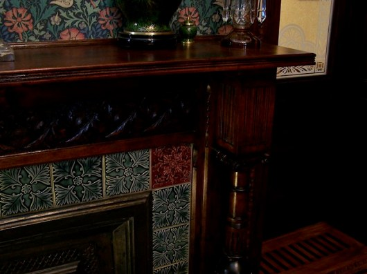 Greene St. Brownstone-View of fireplace and tile.