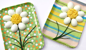 Making deviled eggs into daisies [1]