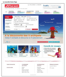 Nouveau site internet Air Tahiti