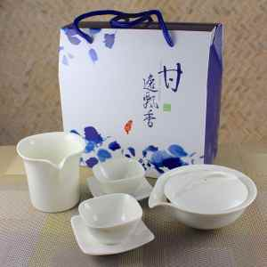 New Gaiwan Tasting Set for 2 with Square Cups
