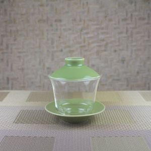 Glass Gaiwan with Green Porcelain