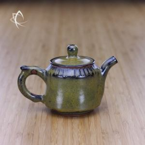Weathered Tea Dust Glaze Smaller Teapot Featured View