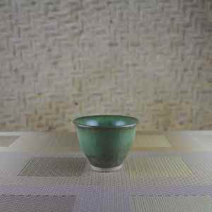 Moondust Green Tulip Tea Cup