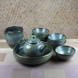 Moondust Green Tea Set for 6