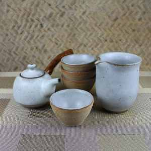 Snow Glazed Kyusu Gift Set Featured