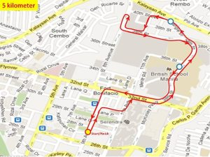 Ensure to Endure 2 5KM Race Route