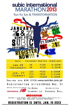 Subic International Marathon 2013