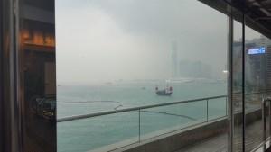 Ausblick von der Messe in Hongkong