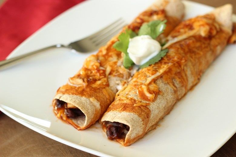 Paleo Chicken and Red Bean Enchiladas