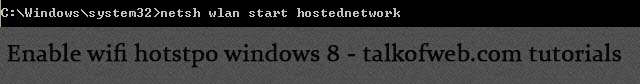 Enabling Wifi hotspot in windows 8
