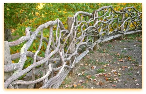 rustic fence from Olana, Frederick Church's home