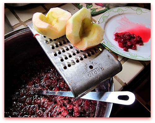 vintage grater with apples