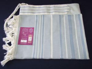 Sapir Tallit - Blue and Azure Stripes