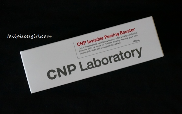 CNP Laboratory Invisible Peeling Booster Packaged in a Box