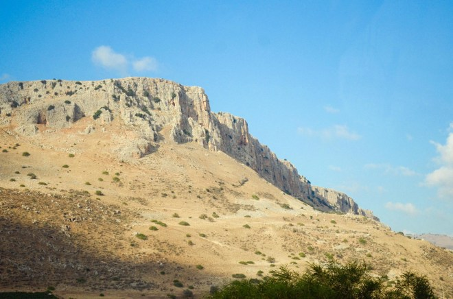 The rugged cliffs of Arbel overlook the Sea of Galilee. Although it may appear formidable to climb, from the summit a beautiful panorama is spread before you, including the entire lake and the mountains of Galilee all the way to the Golan Heights and even Mount Hermon on a very clear day!