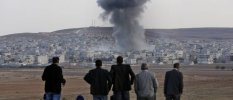 Airstrikes against Islamic State positions in Kobane