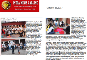 Indianewscalling, oct 16, Event diwali