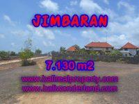Tanah dijual di Jimbaran 71,3 Are Lingkungan villa di Jimbaran Ungasan Bali
