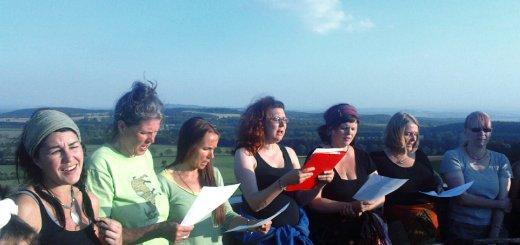 Balkanlieder auf dem Knüll-Turm