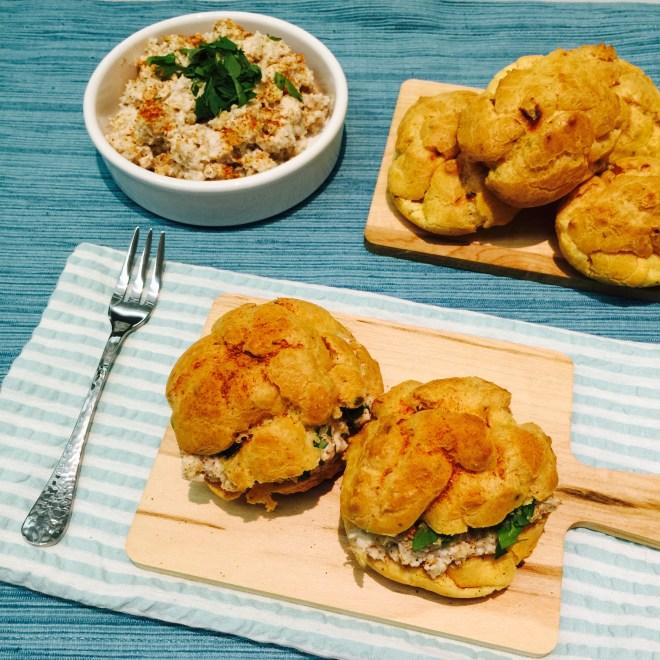 Circassian chicken choux puffs - Tantalise My Taste Buds