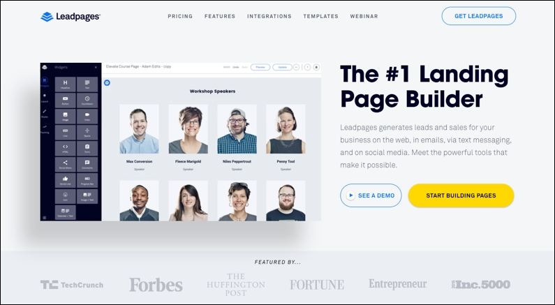 Leadpages Home - Leadpages Copywriter