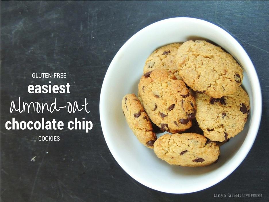 Easiest Almond-Oat Chocolate Chip Cookies – tanya jarrett