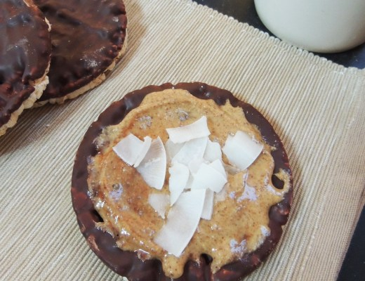 featured cocoa nib almond butter rice cakes 2