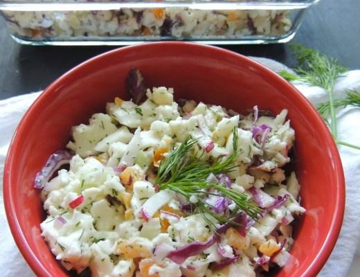 cauliflower rainbow salad