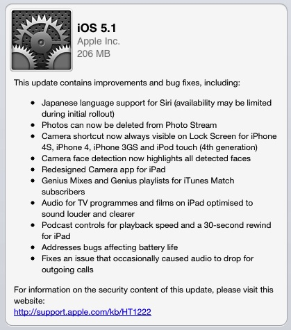 iOS 5.1 Available Now – Adds Japanese Language Support for Siri, Fixes Battery Life Issues