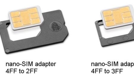 iPhone 5 nano sim adapters