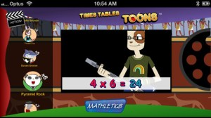 Times Tables Toons iPhone App