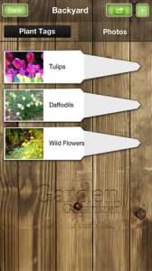 Garden Organizer iPhone App
