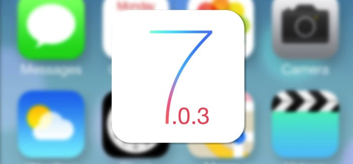 Apple Testing iOS 7.0.3 as Users Await Messages, Battery Fixes