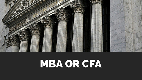 MBA vs CFA