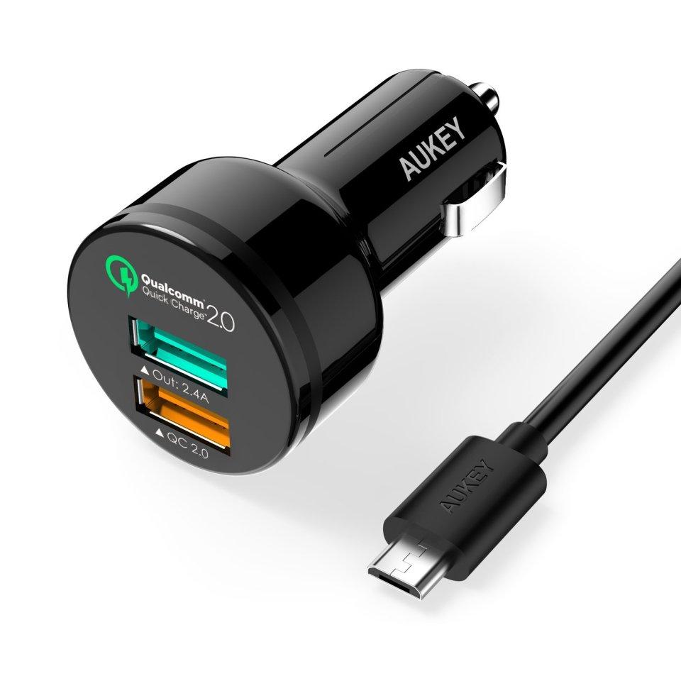 Aukey, Caricatore da auto con Quick Charge 2.0