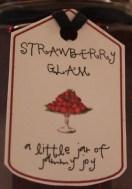 strawberry glam label
